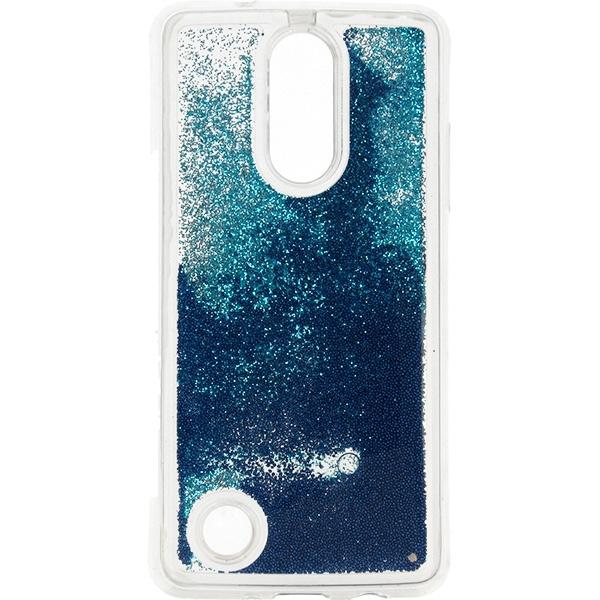 GUMA LIQUID PEARL ETUI NA TELEFON LG K8 2017 M200N NIEBIESKI