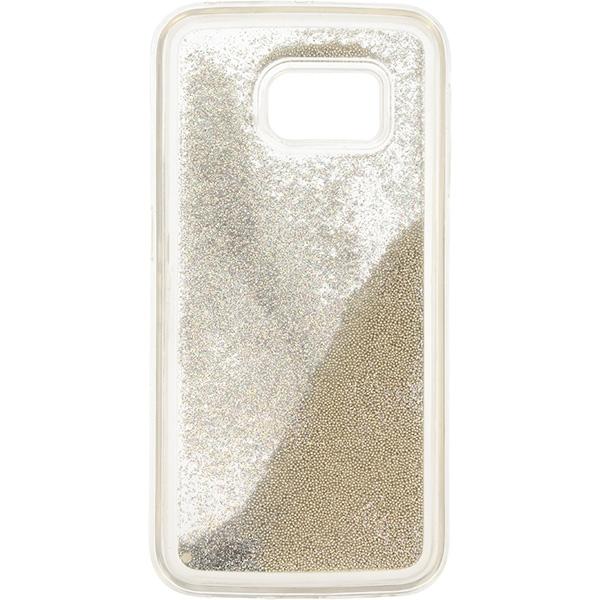 GUMA LIQUID PEARL ETUI NA TELEFON SAMSUNG GALAXY S6 EDGE G925 SREBRNY