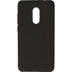 CASE RUBBER SMOOTH XIAOMI REDMI NOTE 4 BLACK