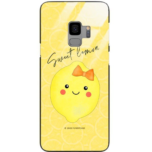 ETUI BLACK CASE GLASS NA TELEFON SAMSUNG GALAXY S9 ST_LEMON7