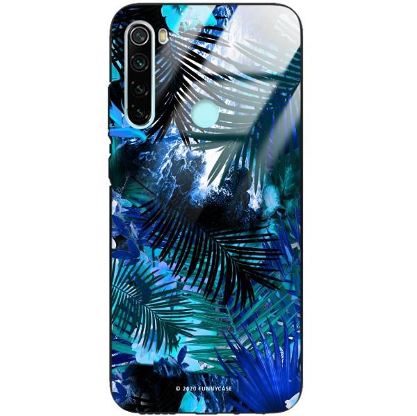 ETUI BLACK CASE GLASS NA TELEFON XIAOMI REDMI NOTE 8 ST_DARK-JUNGLE1