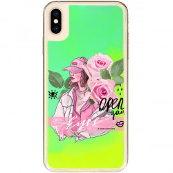 ETUI LIQUID NEON NA TELEFON APPLE IPHONE XS MAX ZIELONY ST_SAND-2020-1-106