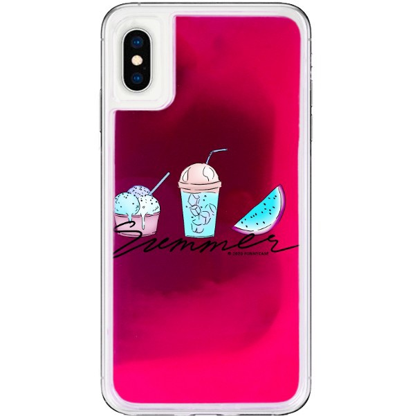 ETUI LIQUID NEON NA TELEFON APPLE IPHONE X / XS RÓŻOWY ST_SAND-2020-1-102