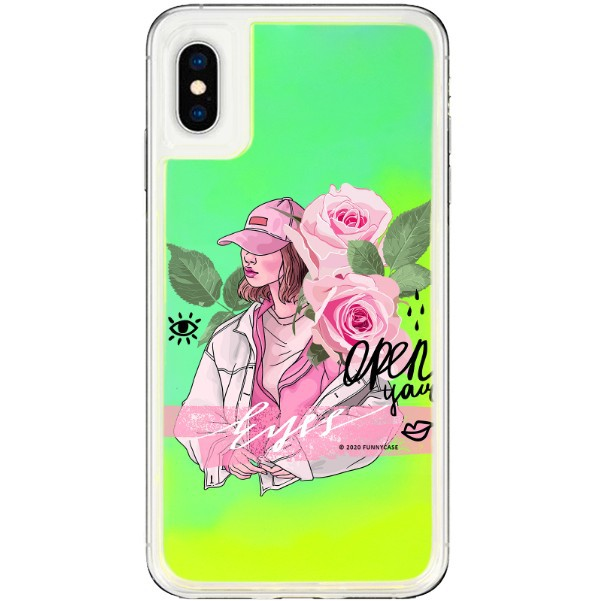 ETUI LIQUID NEON NA TELEFON APPLE IPHONE X / XS ZIELONY ST_SAND-2020-1-107