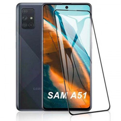 BLACK IRON GLASS 9D NA TELEFON SAMSUNG GALAXY A51 TRANSPARENTNY
