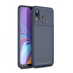 ETUI CARBON NA TELEFON HUAWEI P20 LITE 2019 GRANATOWY