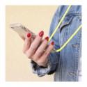 ETUI CROSSBODY NA TELEFON XIAOMI REDMI NOTE 8 ŻÓŁTY