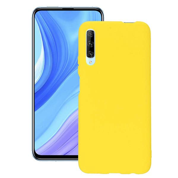 ETUI GUMA SMOOTH NA TELEFON HUAWEI P SMART PRO / HONOR Y9S ŻÓŁTY