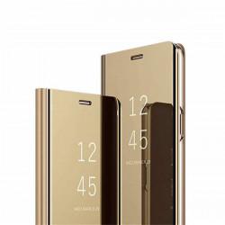 ETUI BOOK CLEAR VIEW NA TELEFON LG K61 ZŁOTY