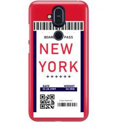 ETUI CLEAR NA TELEFON NOKIA 8.1 / X7 BOARDING-CARD2020-1-100