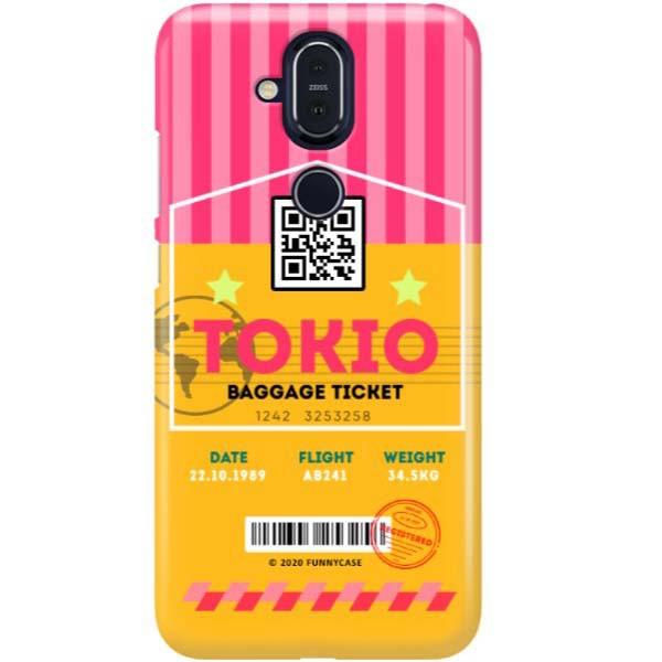 ETUI CLEAR NA TELEFON NOKIA 8.1 / X7 BOARDING-CARD2020-1-107