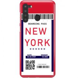 ETUI CLEAR NA TELEFON SAMSUNG GALAXY A21 BOARDING-CARD2020-1-100