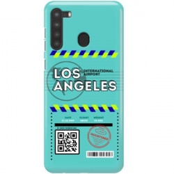 ETUI CLEAR NA TELEFON SAMSUNG GALAXY A21 BOARDING-CARD2020-1-103