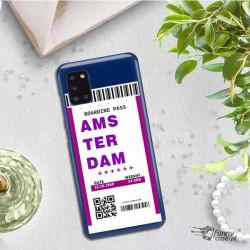 ETUI CLEAR NA TELEFON SAMSUNG GALAXY A31 BOARDING-CARD2020-1-101