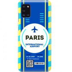 ETUI CLEAR NA TELEFON SAMSUNG GALAXY A31 BOARDING-CARD2020-1-105