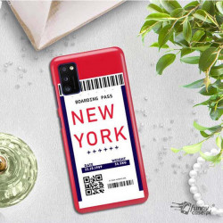 ETUI CLEAR NA TELEFON SAMSUNG GALAXY A41 BOARDING-CARD2020-1-100