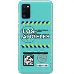 ETUI CLEAR NA TELEFON SAMSUNG GALAXY A41 BOARDING-CARD2020-1-103