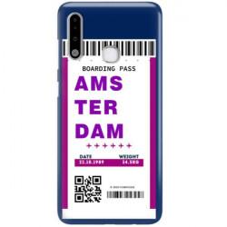 ETUI CLEAR NA TELEFON SAMSUNG GALAXY A70E BOARDING-CARD2020-1-101