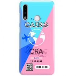 ETUI CLEAR NA TELEFON SAMSUNG GALAXY A70E BOARDING-CARD2020-1-102