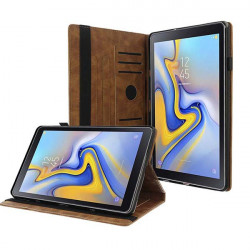ETUI LETHER TABLET NA SAMSUNG TAB A 8.0 2018 / T38TV BRĄZOWY