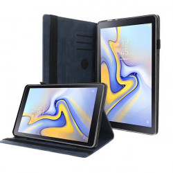 ETUI LETHER TABLET NA SAMSUNG TAB A 8.0 2018 / T38TV GRANATOWY