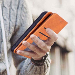 ETUI BOOK MAGNET SKÓRA NA TELEFON HUAWEI P SMART 2020 BRĄZOWY