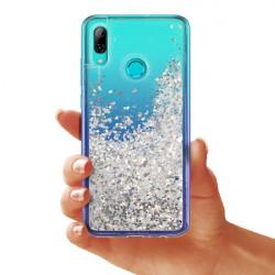 ETUI LIQUID SPARKLE NA TELEFON HUAWEI P SMART 2019 SREBRNY