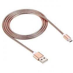 KABEL USB METAL TYP C RÓŻOWO-ZŁOTY