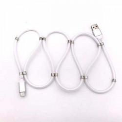 KABEL USB SKRĘCANY TYP C BIAŁY