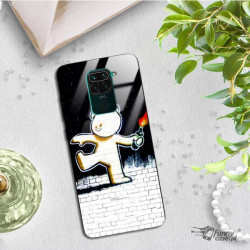 ETUI BLACK CASE GLASS NA TELEFON XIAOMI REDMI NOTE 9 ST_BANKSY_2020-2-103