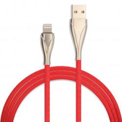 KABEL USB GUMOWY PLECIONY IPHONE LIGHTNING CZERWONY