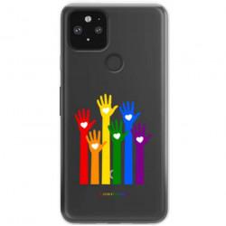 ETUI CLEAR NA TELEFON GOOGLE PIXEL 5 LGBT-2020-1-101
