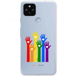 ETUI CLEAR NA TELEFON GOOGLE PIXEL 5 XL LGBT-2020-1-101