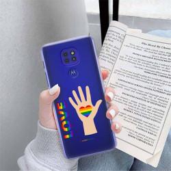 ETUI CLEAR NA TELEFON MOTOROLA MOTO G9 / G9 PLAY LGBT-2020-1-102