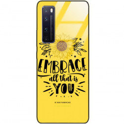 ETUI BLACK CASE GLASS NA TELEFON HUAWEI NOVA 7 PRO ST_SUNFLOWERS-2020-1-100