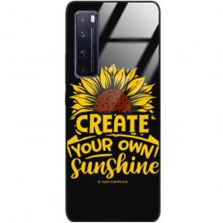 ETUI BLACK CASE GLASS NA TELEFON HUAWEI NOVA 7 PRO ST_SUNFLOWERS-2020-1-101