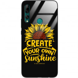 ETUI BLACK CASE GLASS NA TELEFON HUAWEI Y9 PRIME 2019 ST_SUNFLOWERS-2020-1-101