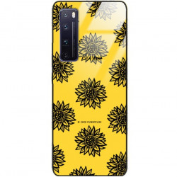 ETUI BLACK CASE GLASS NA TELEFON HUAWEI NOVA 7 PRO ST_SUNFLOWERS-2020-1-102