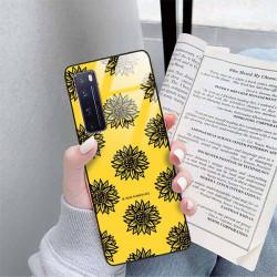 ETUI BLACK CASE GLASS NA TELEFON HUAWEI NOVA 7 PRO ST_SUNFLOWERS-2020-1-102
