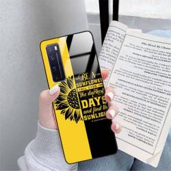 ETUI BLACK CASE GLASS NA TELEFON HUAWEI NOVA 7 PRO ST_SUNFLOWERS-2020-1-103