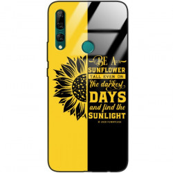 ETUI BLACK CASE GLASS NA TELEFON HUAWEI Y9 PRIME 2019 ST_SUNFLOWERS-2020-1-103