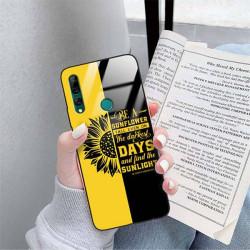 ETUI BLACK CASE GLASS NA TELEFON HUAWEI Y9 PRIME 2019 ST_SUNFLOWERS-2020-1-103