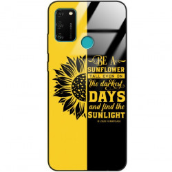 ETUI BLACK CASE GLASS NA TELEFON HUAWEI HONOR 9A ST_SUNFLOWERS-2020-1-103