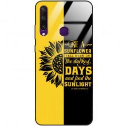 ETUI BLACK CASE GLASS NA TELEFON HUAWEI Y6S ST_SUNFLOWERS-2020-1-103