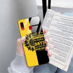 ETUI BLACK CASE GLASS NA TELEFON SAMSUNG GALAXY A20 ST_SUNFLOWERS-2020-1-103