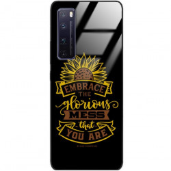 ETUI BLACK CASE GLASS NA TELEFON HUAWEI NOVA 7 PRO ST_SUNFLOWERS-2020-1-105