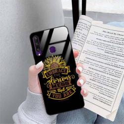 ETUI BLACK CASE GLASS NA TELEFON HUAWEI Y6S ST_SUNFLOWERS-2020-1-105
