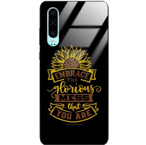 ETUI BLACK CASE GLASS NA TELEFON HUAWEI P30 ST_SUNFLOWERS-2020-1-105
