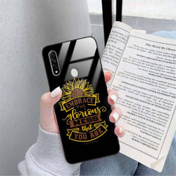 ETUI BLACK CASE GLASS NA TELEFON OPPO A8 / A31 2020 ST_SUNFLOWERS-2020-1-105