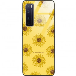 ETUI BLACK CASE GLASS NA TELEFON HUAWEI NOVA 7 PRO ST_SUNFLOWERS-2020-1-106